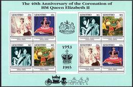Lesotho 1993 Coronation Anniversary Sheetlet Unmounted Mint. - Lesotho (1966-...)