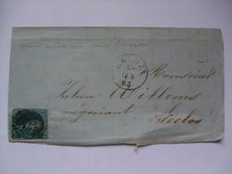BELGIUM 1863 Front Of Cover - To Eecloo - Belgium