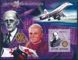 D- [402405] **/Mnh-Guinée-Bissau 2005 - Centenaires Rotarien, Pape, Avions, Croix-Rouge - Rotary, Lions Club
