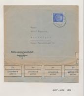 ZZ533 - Cover Stamp Hindenburg DUISBURG Ruhrort 7/11/1939 To ANTWERPEN , Belgien - Label Devisenzensur - Germany