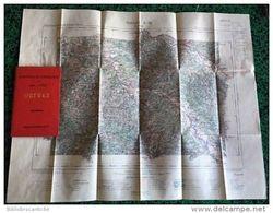 Carte Dépliante De ORTHEZ 1/100 000 (Dpt 64) Ministére De L'Intérieur 1898 - Topographische Kaarten