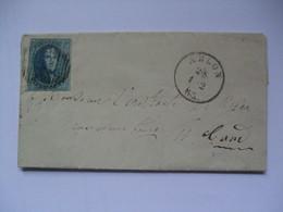 BELGIUM 1863 Entire - Arlon To Gand (Ghent) - Belgium