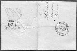 1859 Lubeck Entire - Abo, Finland. Bahnpost Russia. Evening Vecher Vecherom - Lubeck