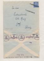 ZZ535 - Cover Stamp Hindenburg - Linear Cancel DRUSENHEIM Unter Elsass To GENF Schweiz - Censor Label COLN - Germany