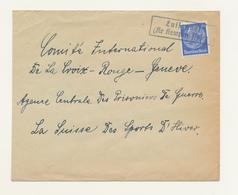 ZZ536 - Cover Stamp Hindenburg - Linear Cancel LUISENHOF ( Kr. Kempen Polen) To GENF Schweiz - No Censor Label - Germany