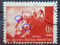 LANDSCAPES-OZALJ-0.25 K-ERROR-LIGHT IN TUNNEL-RARE-NDH-CROATIA-1941 - Croatia