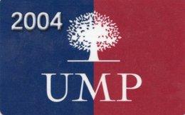 CARTE D'ADHERENT UMP 2004 - France