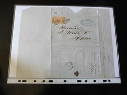 BELLE LETTRE DE MORLAIX   POUR LE HAVRE -  1868 - - Postmark Collection (Covers)