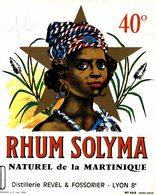 ETIQUETTE   RHUM SOLYMA - Rhum