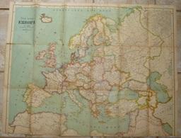 "Autriche Austria MAP ~ 1920 Of EUROPE 75 X 90 Cm "" DAS  NEUE  EUROPA  "" Artaria & Co, WIEN - Geographical Maps"
