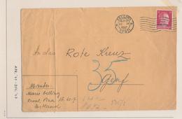 ZZ542 - Cover Stamp Hitler Ostland - TALLIN Eesti 1942 To Genf Schweiz - German Censor Label Frankfurt - Germany