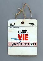Carte De Bagage Paris Wien 1962 Coll Schnabel - Europe