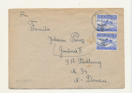 ZZ544 - Cover 2 Stamps Luftfeldpost - Cachet FELDPOST 35600 In 1943 To GMUND N. Donau. - Germany