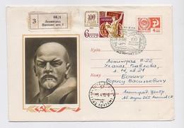 MAIL Post Stationery Cover Mail USSR RUSSIA Lenin October Revolution Leningrad Symposium UNESCO - 1923-1991 URSS