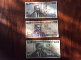 KENYA LOT OF 5 NOTES 50 100 200 500 1000 SHILINGI SHILLING 2005 2006 2008 - Kenya