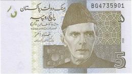 Pakistán 5 Rupees 2008 Pick 53a UNC - Pakistán