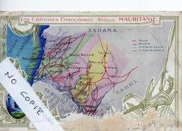 Mauritanie, Colonies Françaises, Carte Géographique - Mauritanie