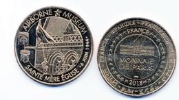WW2 - Pièce De Collection - Monnaie De Paris 2018  AIRBORNE MUSEUM Sainte-Mère-Eglise - Army & War