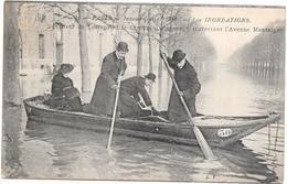PARIS - 75 - Inondations 1910 - DE LESSEPS Et La Baronne Delagrange Avenue Montaigne - BARA1 - - Inondations De 1910