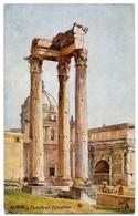 ARTIST : ALBERTO PISA - ROME, TEMPLE OF VESPASIAN (TUCK'S OILETTE) - 1900-1949