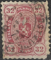 FINLAND 1875 Arms - 32p - Red FU - Used Stamps