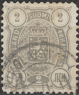 FINLAND 1889 Arms - 2p - Grey FU - Used Stamps