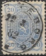 FINLAND 1875 Arms - 20p - Blue  FU - Finland