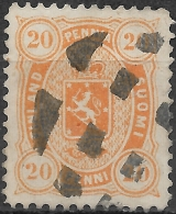 FINLAND 1875 Arms - 20p - Orange FU - Used Stamps