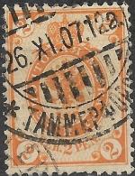 FINLAND 1901 Arms - 2p - Orange FU - 1856-1917 Administración Rusa