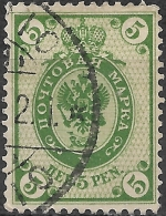 FINLAND 1901 Arms - 5p - Green FU - Used Stamps