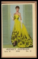 AUDREY HEPBURN Im Abendkleid - Altes Original-Sammelbild (ca. 4,5 X 7 Cm) - 1701032 - Merchandising