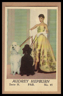AUDREY HEPBURN Mit Ihren Hunden - Altes Original-Sammelbild (ca. 4,5 X 7 Cm) - 1701031 - Merchandising
