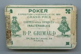 Jeu De Poker Grimaud Dans Son Emballage Non Ouvert. Exposition Universelle De 1900 à Paris . - Playing Cards (classic)