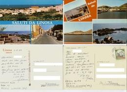 Linosa (Agrigento): Saluti. Lotto 2 Cartoline Anni '80 (radioamatore) - Agrigento