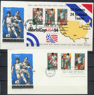 USA 1994 Football Soccer World Cup Set Of 3 + S/s On 2 FDC - World Cup