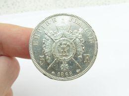 Superbe 5 F Argent 1868 A écu - Francia