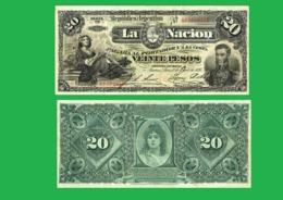 ARGENTINA 20 PESOS  1895 - REPLICA --  REPRODUCTION - Argentinië