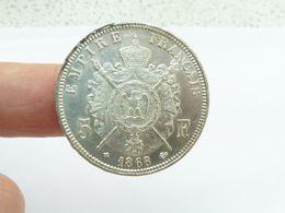 Superbe 5 F Argent 1868 Bb écu - J. 5 Francs