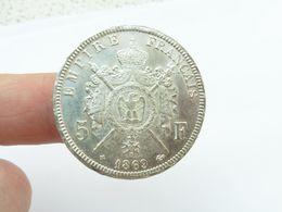 Superbe 5 F Argent 1869 Bb écu - Francia