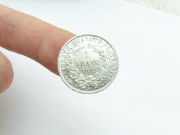 Tres Belle 1 F Argent Monnaie 1872 K - Francia