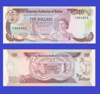 BELIZE 10 DOLLAR 1980   - Copy- Replica - Belize