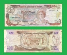 BELIZE 20 DOLLAR 1980   - Copy- Replica - Belize