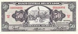 BILLETE DE ECUADOR DE 50 SUCRES DEL AÑO 1988 SIN CIRCULAR-UNCIRCULATED (BANK NOTE) - Ecuador