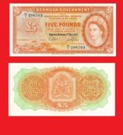 BERMUDA 5 Pound  1957 - Copy- Replica - Bermudes