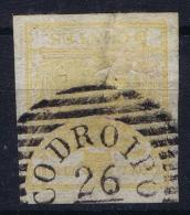 Lombardo-Veneto Sa 13  Stampa Recto-verso  Double Printed Upside Down - Lombardo-Veneto