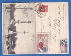 CPA Double - BORDEAUX - Timbre Union Des Sociétés De Gymnastique De France - Jusqu'au Bout - 1916 - Other