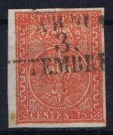 Parma  Sa 7  Mi Nr 7 Obl./Gestempelt/used  1853  Thin Spot - Parma