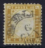 Italy  Sa 1  Mi Nr 9b  Obl./Gestempelt/used - 1861-78 Vittorio Emanuele II