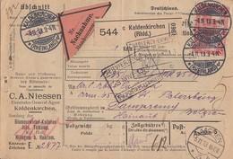 DR NN-Paketkarte EF Minr.94AI Kaldenkirchen 4.11.13 Gel. Nach Belgien - Briefe U. Dokumente