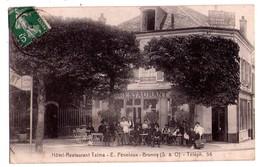 1423 - Brunoy ( S.& O. ) - Hotel-Restaurant Talma - E..Péneloux  ( Téléph. 56 ) - Brunoy